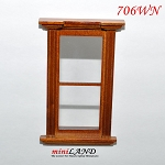 Plain Single Window Westfield dollhouse miniature 1:12 white 706wo